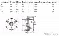 Посадочные размеры токарных патронов 80, 100, 125, 160 - Патрон.JPG